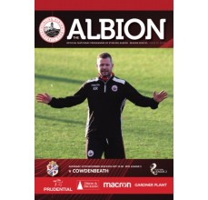 Match Day Programme - 12th Dec 2020 Vs Cowdenbeath