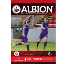 Match Day Programme - 17th Oct 2020 vs Queens Park