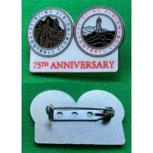 75th Anniversary Enamel Pin Badge