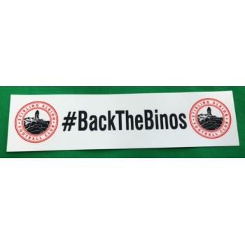 """Back The Binos"" Window Sticker"